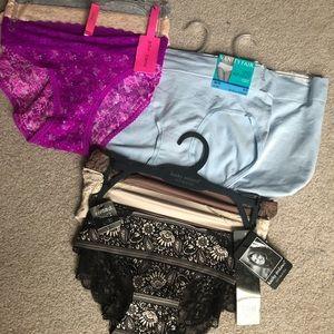 8 pairs NEW women's small panties Hip brief bikini